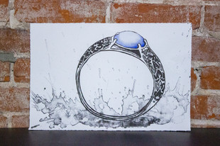 Grandma's Ring Lithography