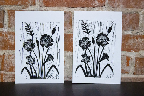 Flower Linocut
