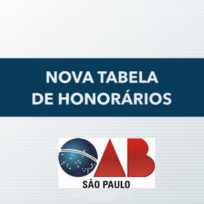 Tabela de honorários advocatícios 2020 está disponível para Advocacia paulista