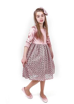 שמלה מעוינים מידות 1-5