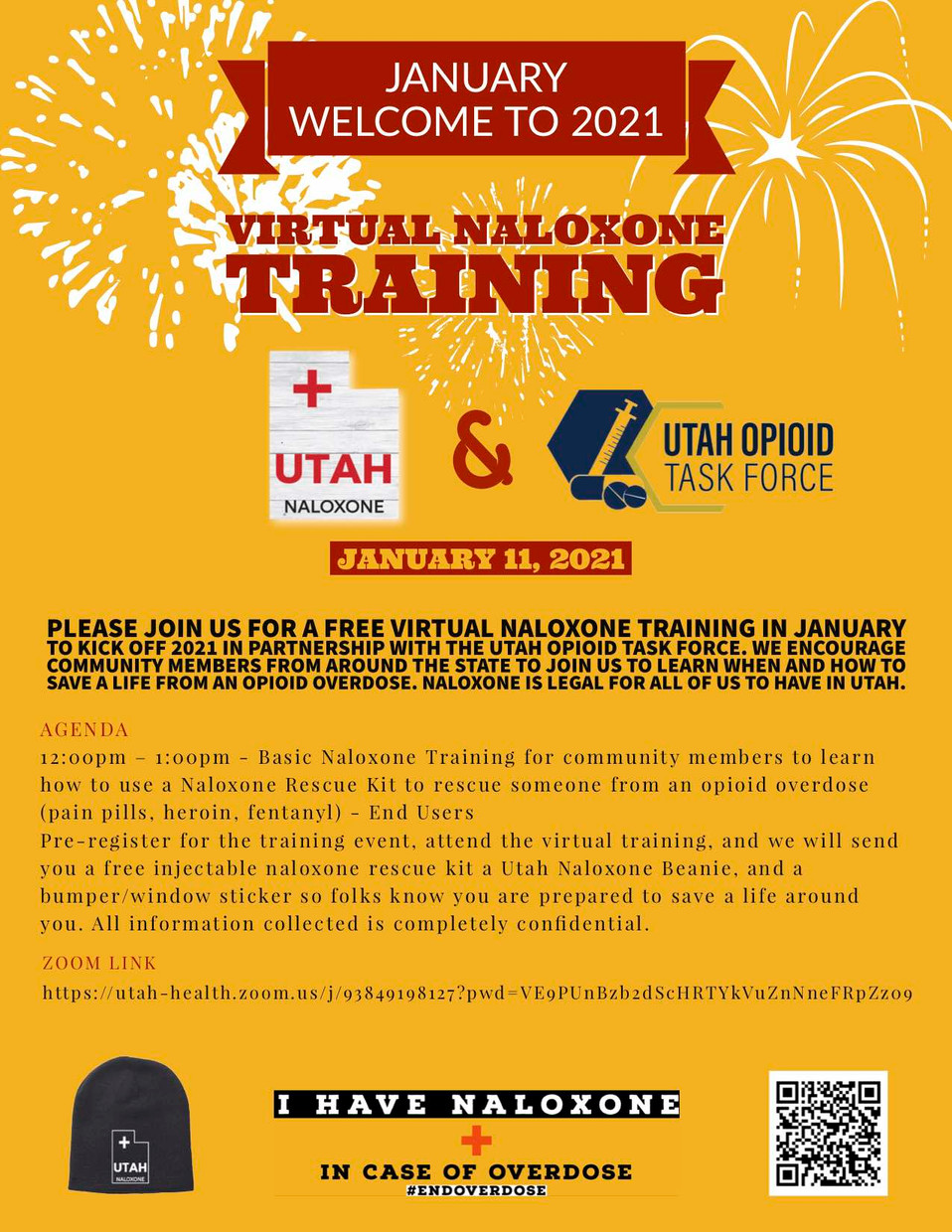 Utah Opioid Taskforce and Naloxone Training