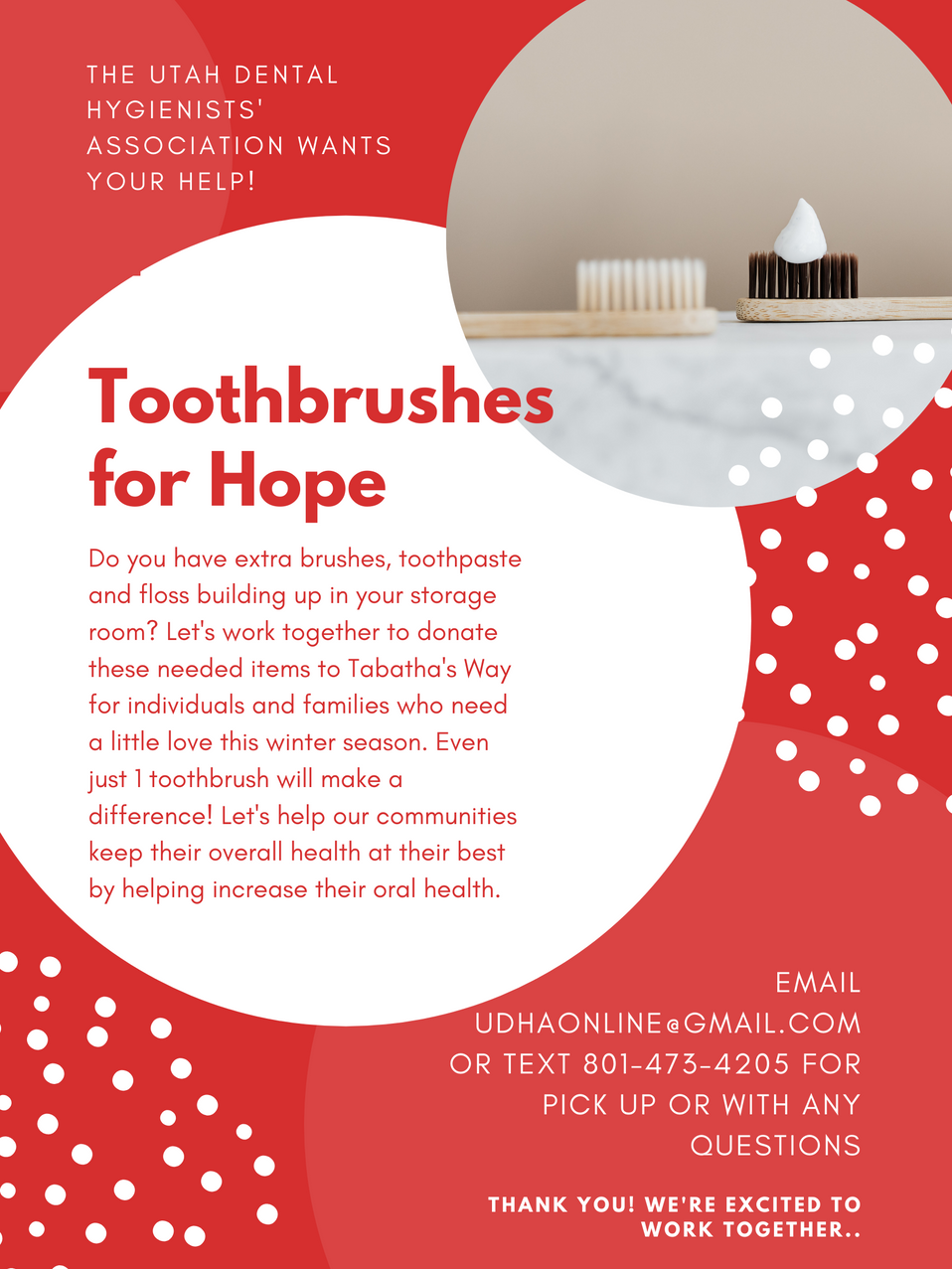 Toothbrushes for Hope from the UDHA