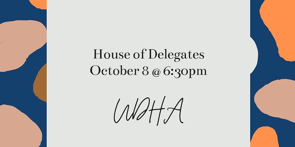 UDHA House of Delegates Meeting