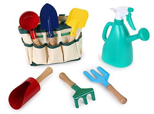 utiles jardinería, bolsa jardinero infantil, niños