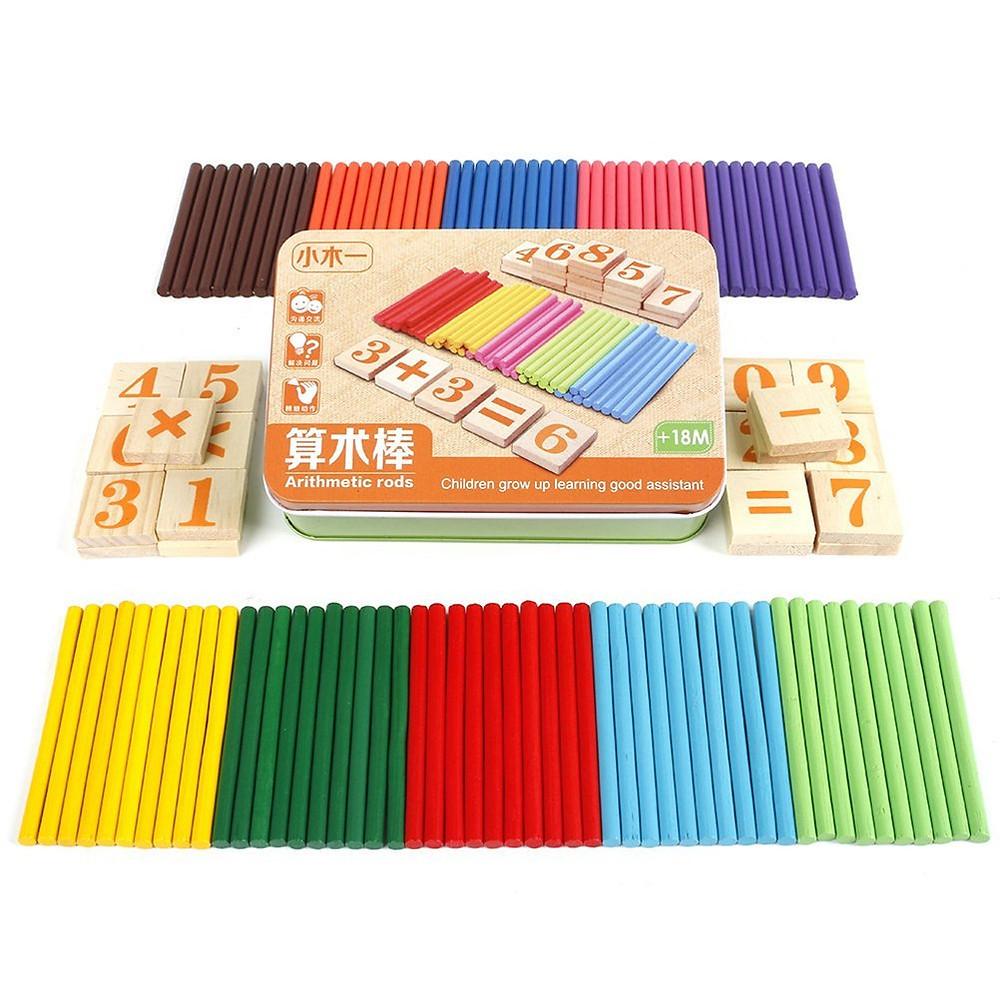 Juegos matemáticos de madera (+6)