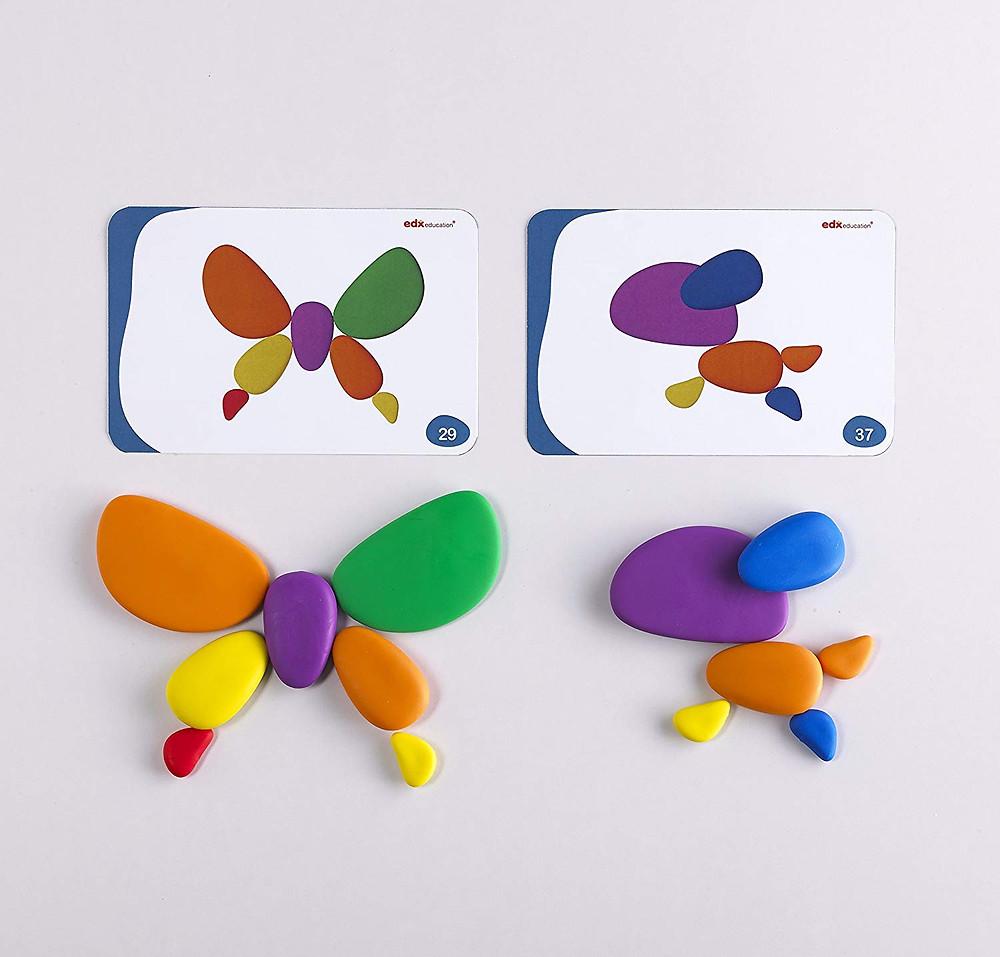 Rainbow pebbles, piedras de colores