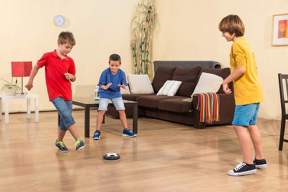 Balón de futbol flotante, juega en casa, niños, deporte