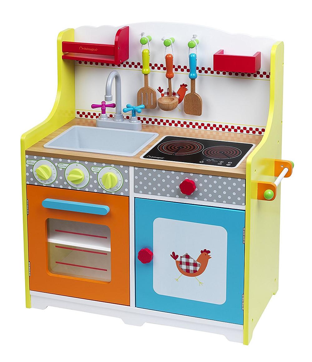 cocinita imaginarium, cocina de madera