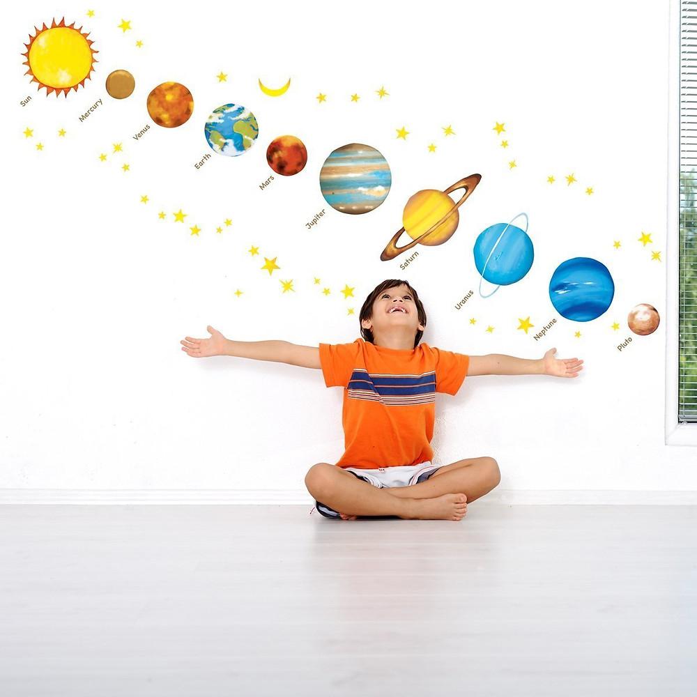 vinilo decorativo sistema solar