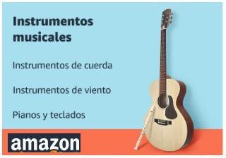 Instrumentos musicales en Amazon, de cuerda, viento, pianos, teclados