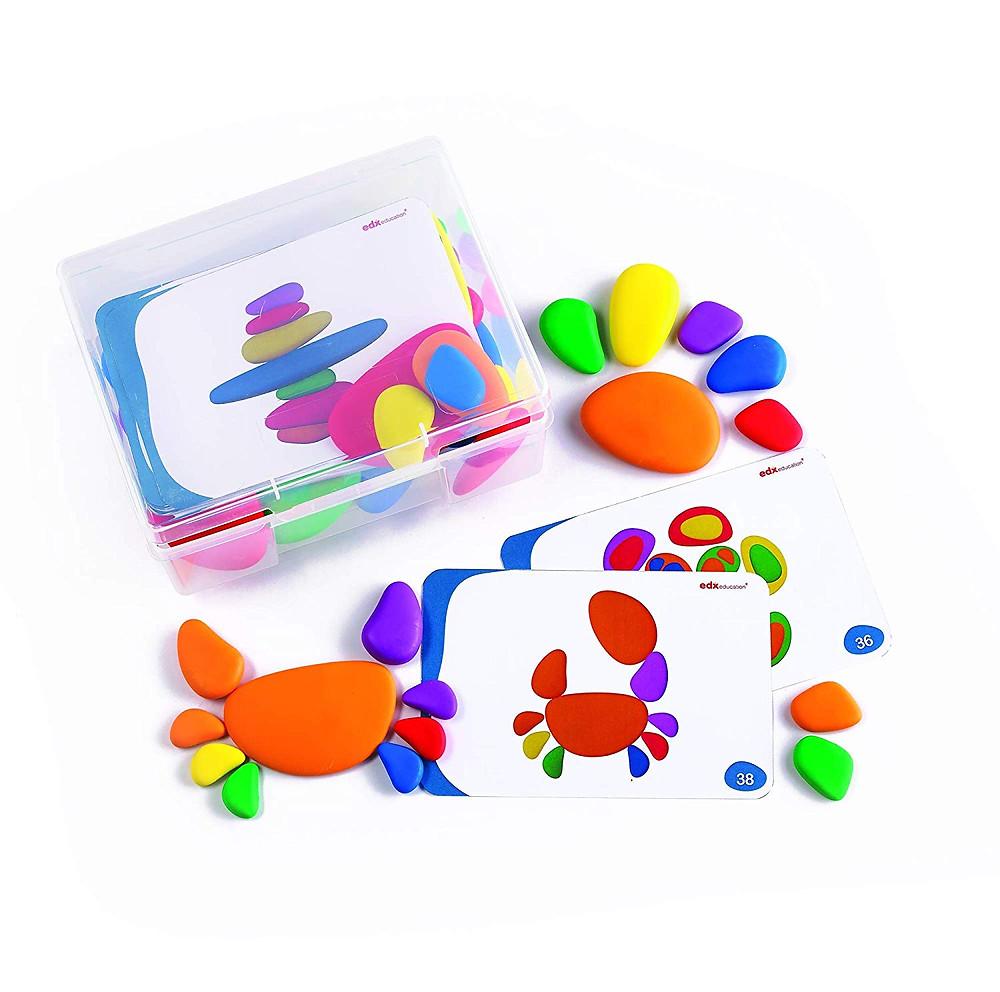 Rainbow pebbles o piedras de colores