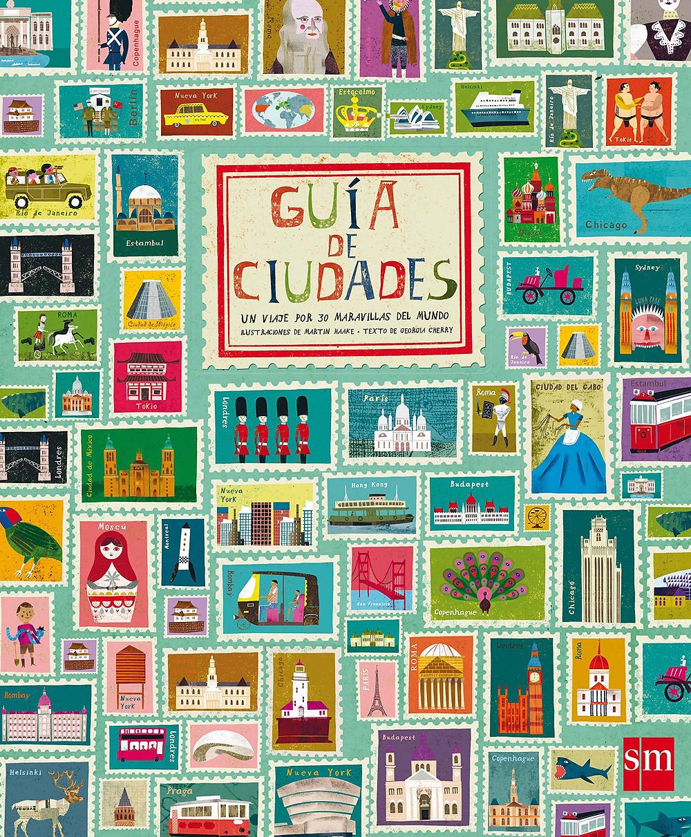 guía de ciudades para niños, libro viajero