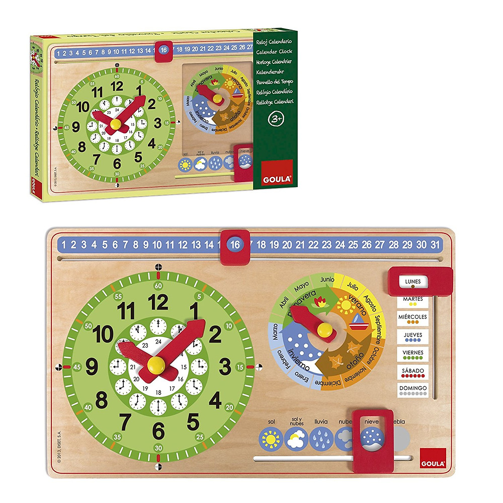 Reloj calendario Goula