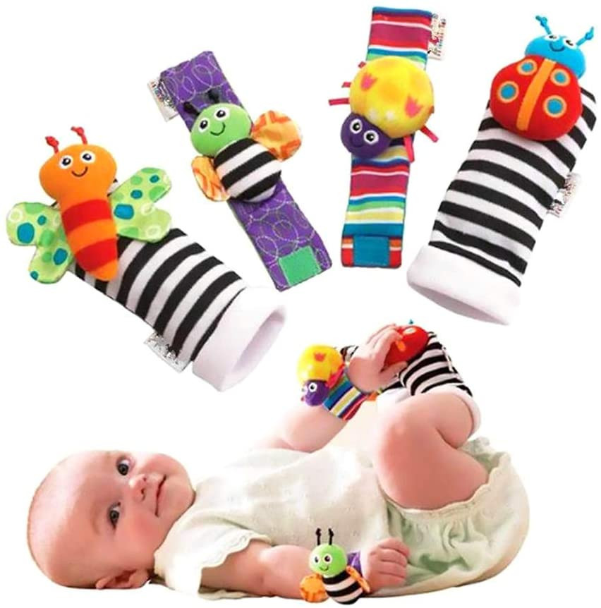 Calcetines con marionetas, para pies, estimulación bebé