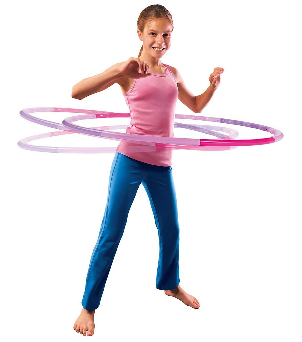 Aro, hula hoop, juega en casa