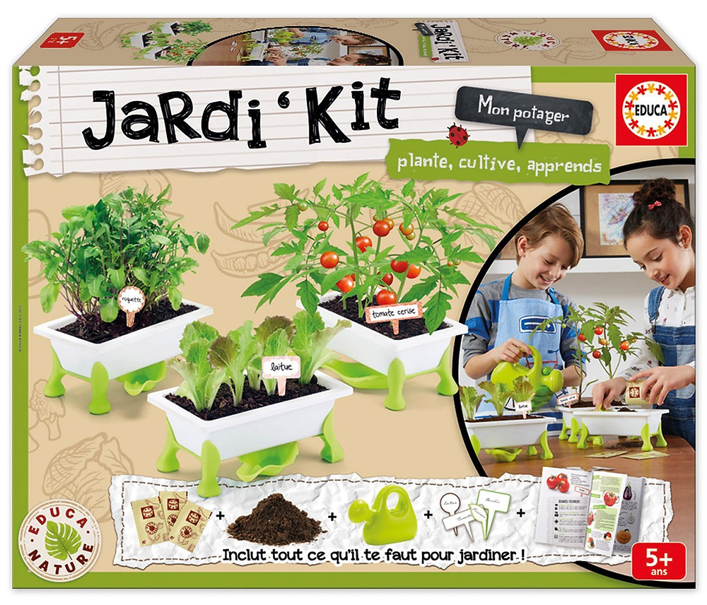 kit jardineria, educa nature, planta