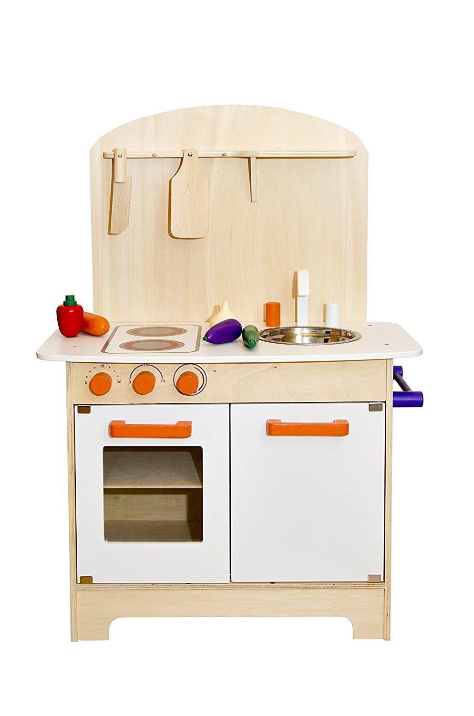 cocinita de madera, cocinita, hortalizas, tabla de cortar