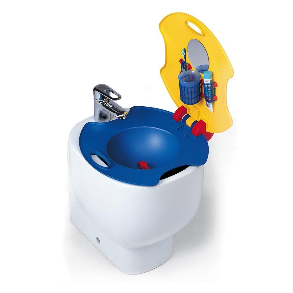 Lavabo infantil para el bidé, espejo lavar dientes