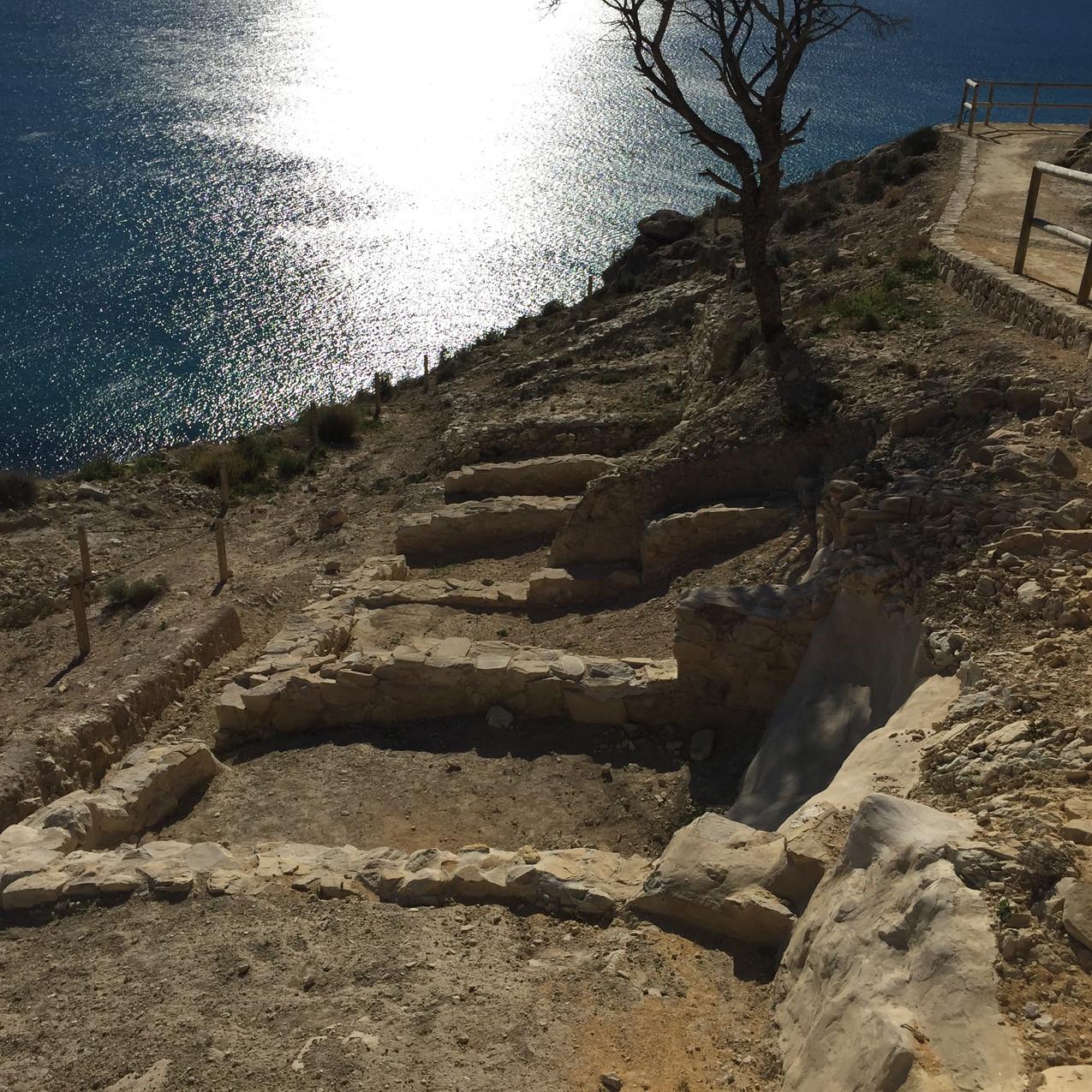 Shrine remains, Malladeta clifftop