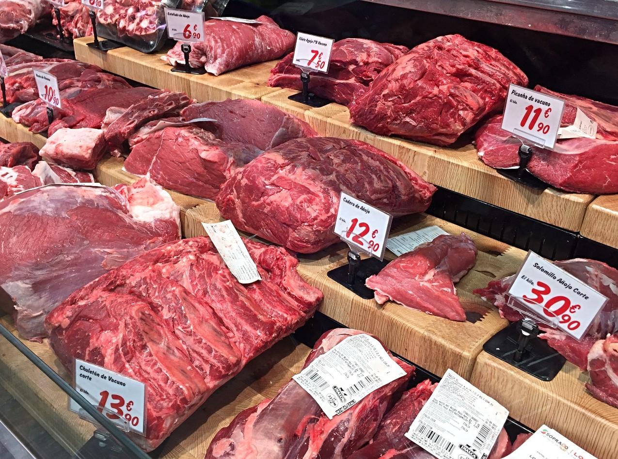 Typical supermarket butcher