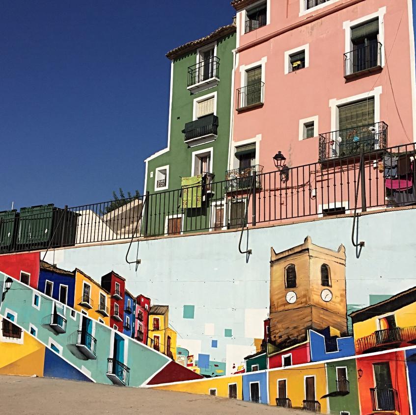 Casas pintadas mural