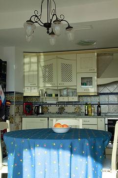 Holiday apartment Villajoyosa kitchen and dining area