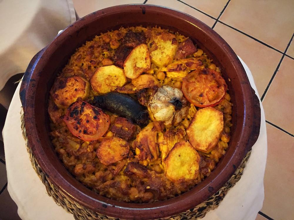 Arroz al horno de leña, Restaurante Xiri, Monóvar