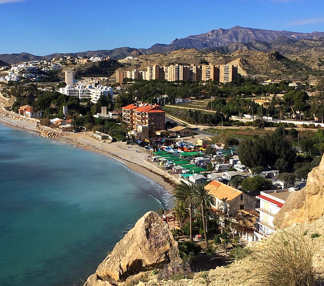 View towards Playa Paraiso
