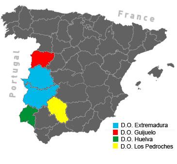 Jamón Ibérico regions