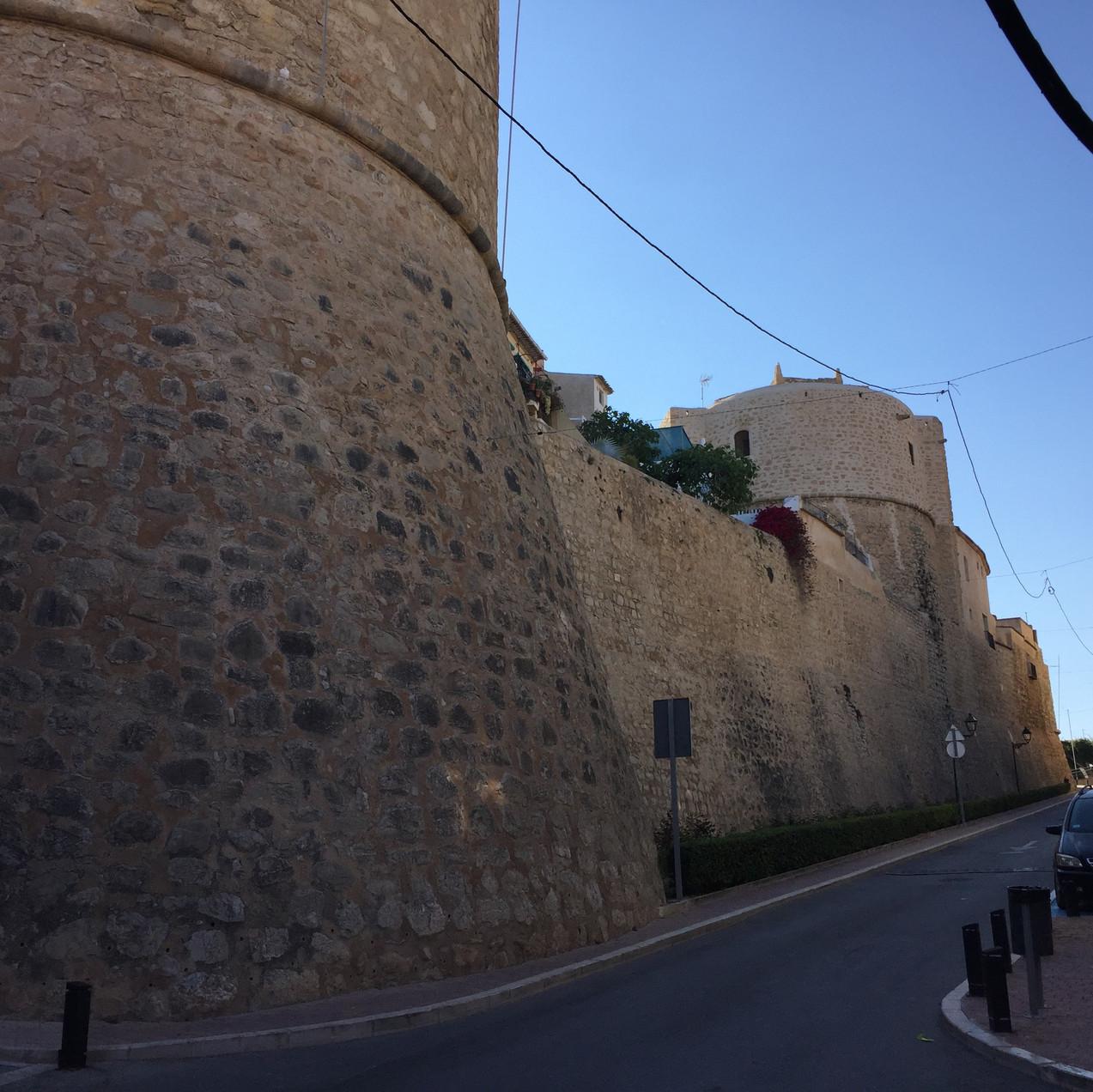 Town walls in Carrer Costera del Mar
