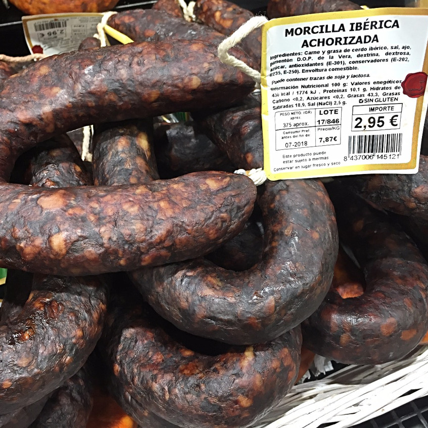 Morcilla: Spanish black pudding