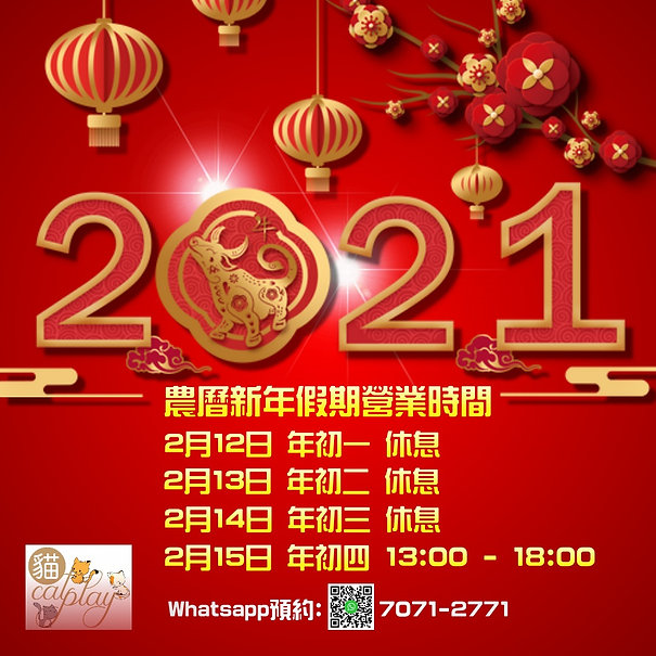 Chinese new year 2021 - Made with Poster