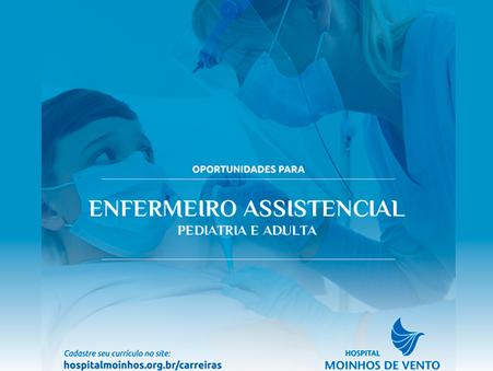 Enfermeiro(a) Assistencial - Pediatria e Adulta - Hosp Moinhos de Vento - Porto Alegre - RS
