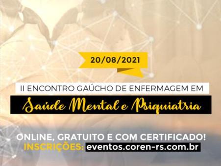 2º Encontro Gaúcho de Enfermagem em Saúde Mental e Psiquiatria do Coren-RS será 20/08. Participe!