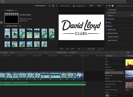 Video Editing for David Lloyd, Manchester