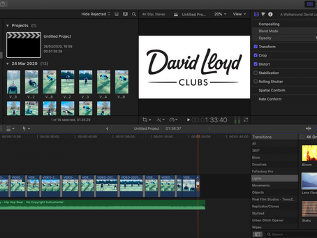 Video Editing for David Lloyd, Manchester