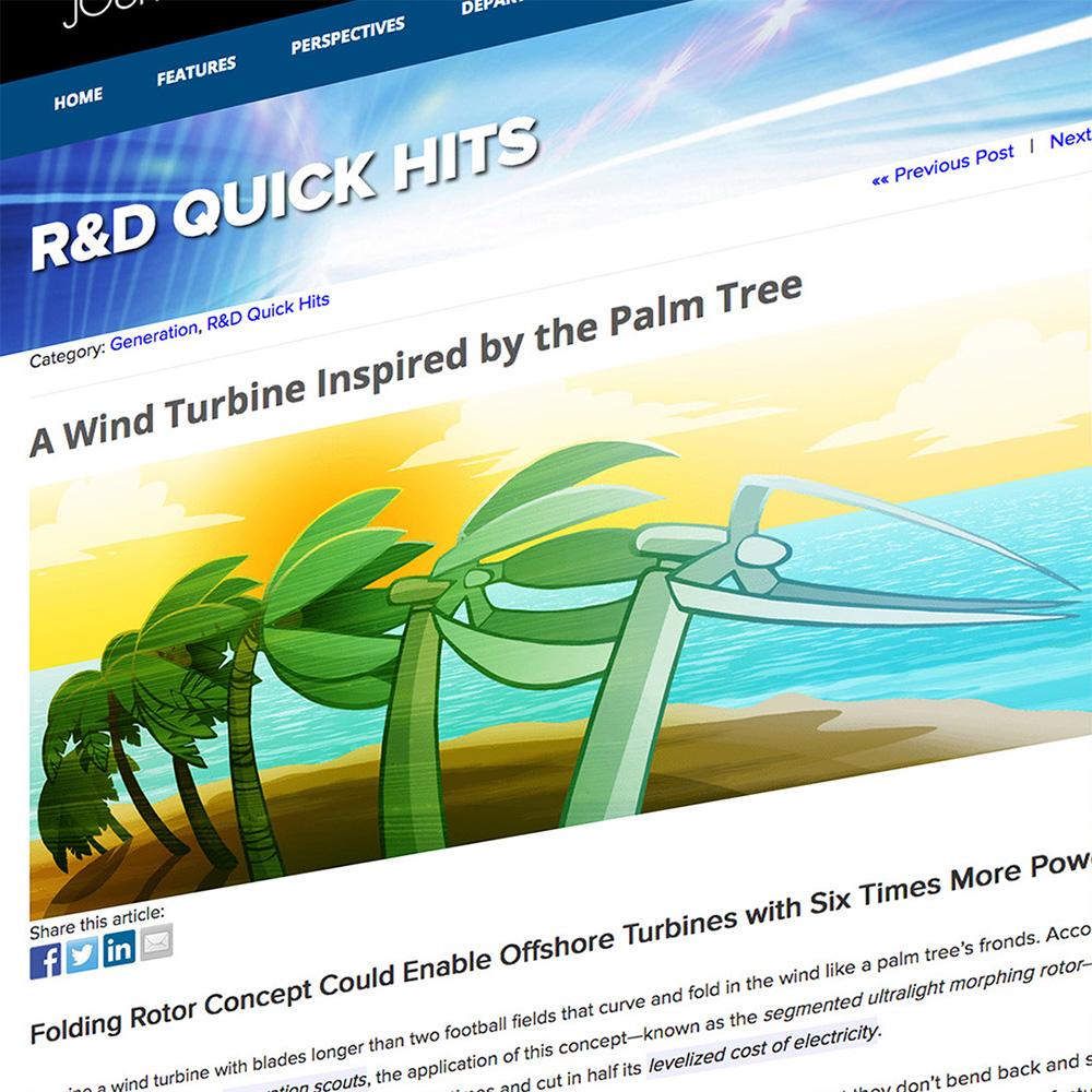 Folding Rotor Wind Turbine