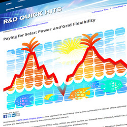 Solar Power and Grid Flexibility