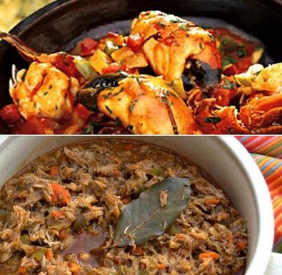 Enchilado de cangrejos (crabe)