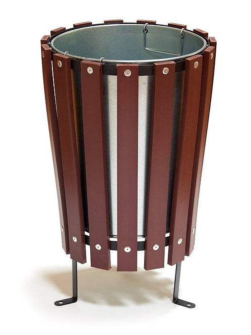 "Litter Bin Recycled Slatted Bin ""The Cone"""