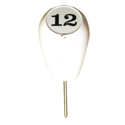 Pear Shape Tee Marker Numbered