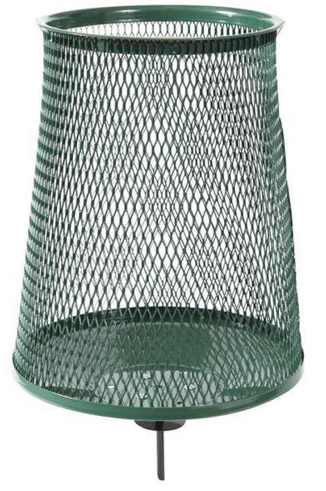 Wire Mesh Cone Shape Bin with Spike