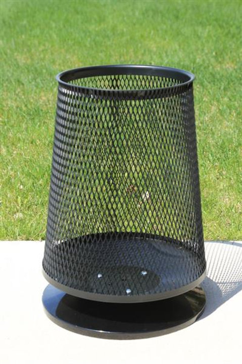 Wire Mesh Cone Shape Bin with Freestanding Base