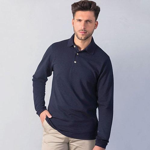 HB Polo Shirt Long Sleeve 100% Cotton