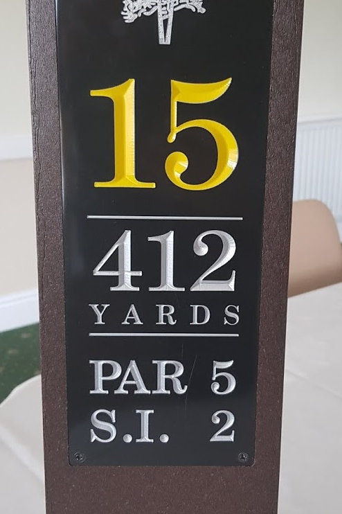 Tee Sign ProPlex Cast Granite Plate