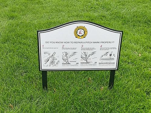 Aluminium Golf Etiquette Sign