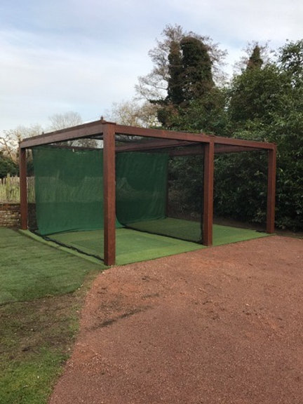 Wooden Framed Twin Practice Bay