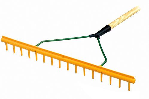 """16p Short Tooth Maintenance Rake 72"""" Hardwood Handle"""