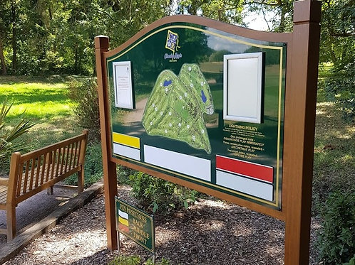 Iroko Hardwood Golf Club Information Board