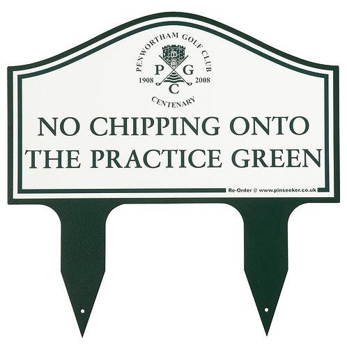 Twin Spike Golf Etiquette Sign